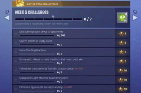 Fortnite Season 4 Week 5 Challenges