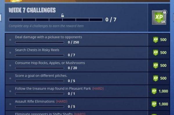 Fortnite Season 4 week 7 challenges